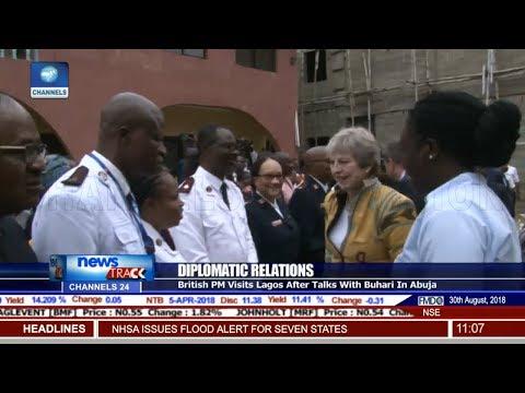 Theresa May Visits Lagos After Talks With Buhari In Abuja