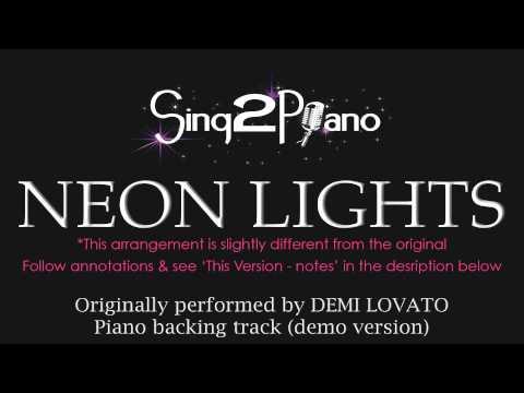Neon Lights - Demi Lovato (Piano Karaoke Backing Track)