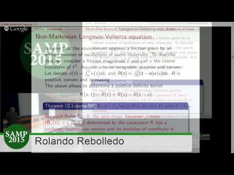 Mathematical challenges of ion channels. Rolando Rebolledo