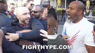 (WOW!) SHANNON BRIGGS GETS INTO FIGHT WITH KSI TEAM; PUNCHES SPECTATOR & ALL HELL BREAKS LOOSE