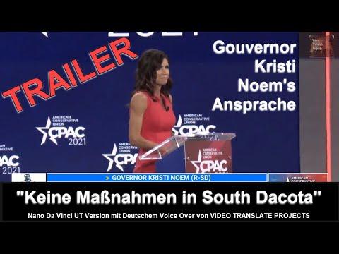 "TEASER - Governor Kristi Noem Ansprache - ""Keine Maßnahmen in South Dakota"""
