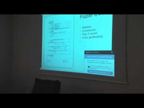Il CV: COMUNICARE VALORE (Orientarsi nel mondo del lavoro 3/4)