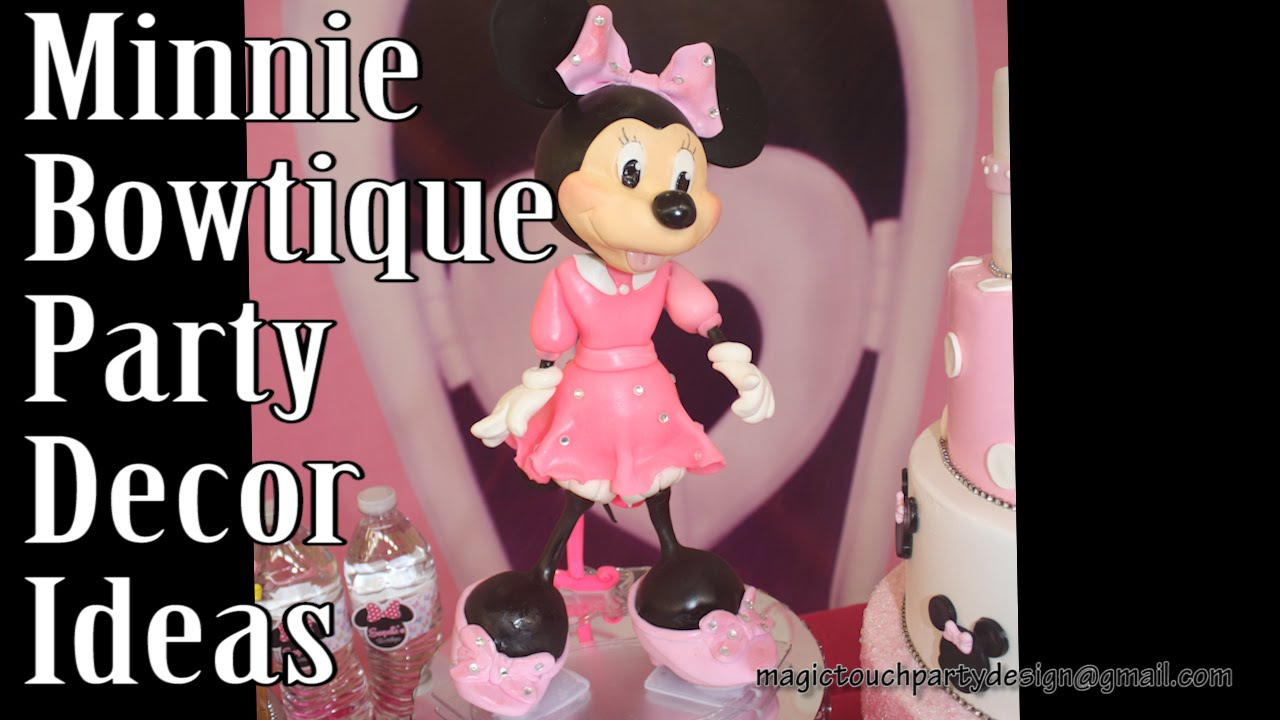 Minnie Mouse Bowtique Party Decoration Ideias Cup N Cakes Gourmet