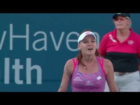 2016 Connecticut Open Final Match Point | Agnieszka Radwanska vs Elina Svitolina | WTA Highlights