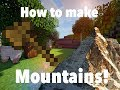 [Minecraft Tutorial] How to make natural mountains with World Edit