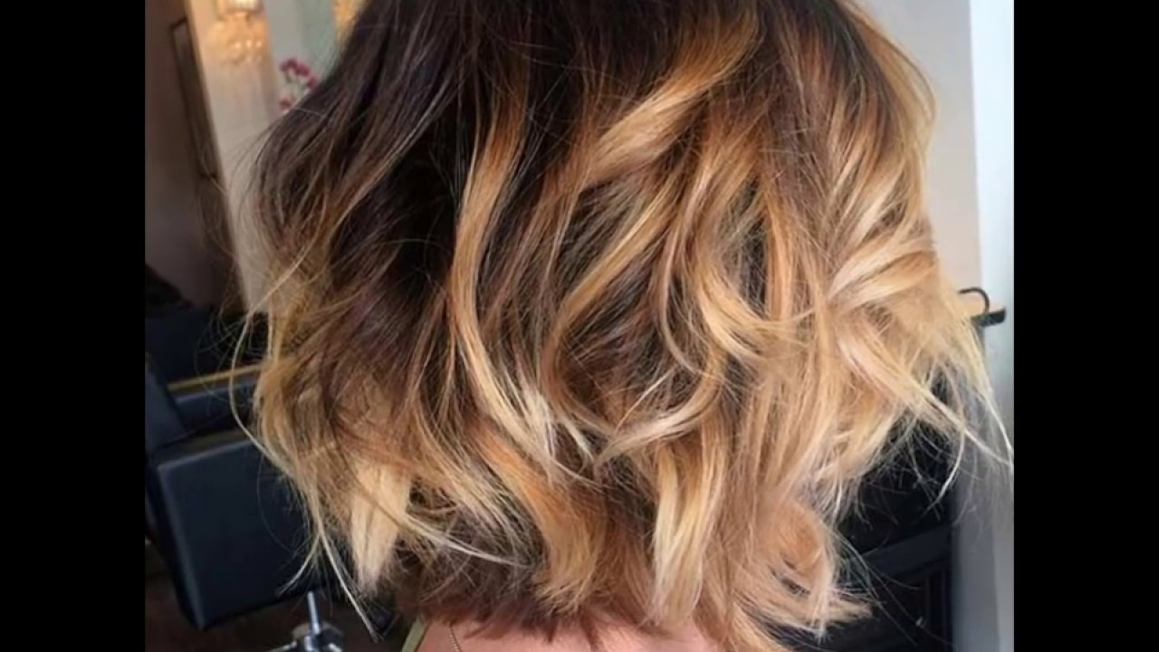 Balayage Hair Color Ideas With Blonde And Caramel Highlights Youtube