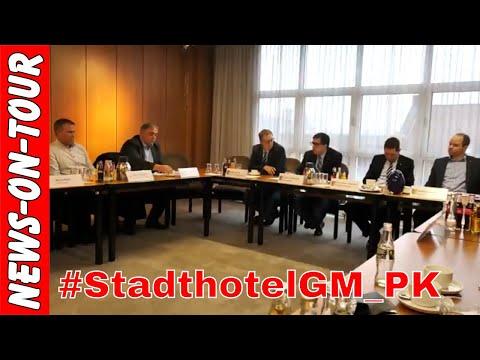 STADTHOTEL Gummersbach (Die Pressekonferenz) in voller Länge (55:08 Min.) 21.12.2017 Rathaus GM