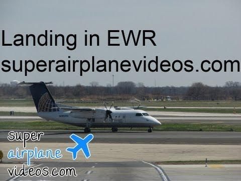 CommutAir (Bombardier Q-200) landing in Newark (EWR)