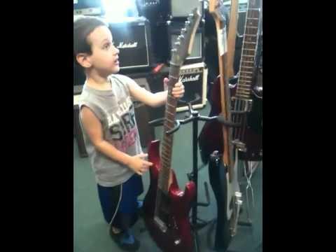 Ivan at Mike Carey Music store