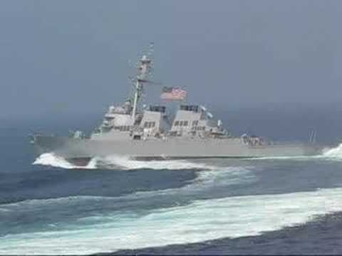 Navy ship taking