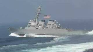 Navy ship taking