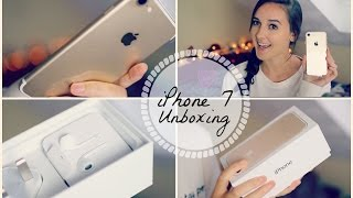 IPHONE 7 UNBOXING (Gold 128gb) | Holly Sergeant