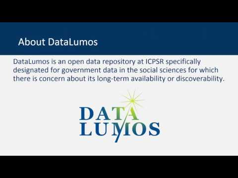 Orientation to DataLumos – ICPSR's archive to preserve valuable government data