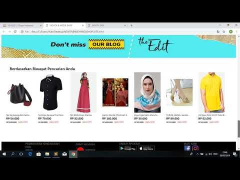 Cara Membuat Tampilan Web Online Shop Menggunakan Html
