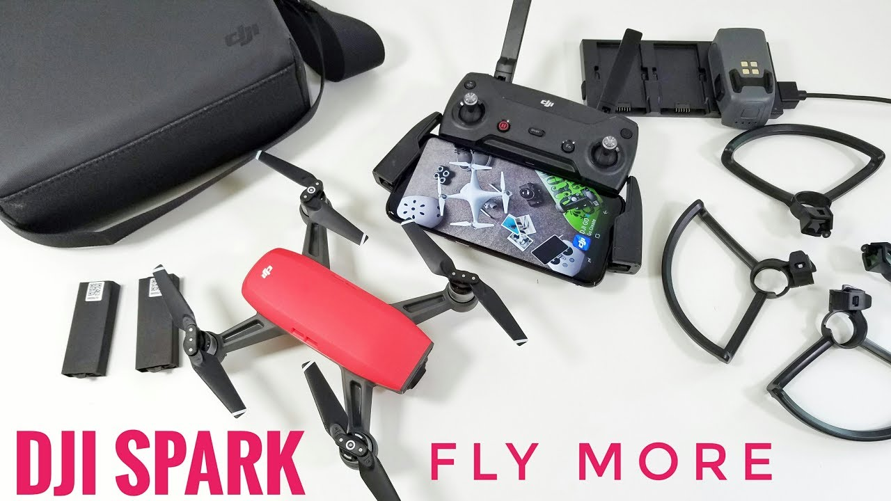 DJI Spark Drone Fly More Combo REVIEW With Sample Videos