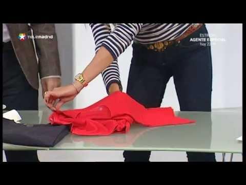 Consejos de hogar idea para doblar camisetas truco p - Tabla doblar camisetas ...