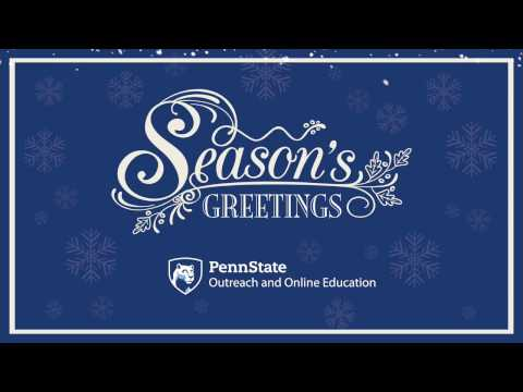 Penn State Outreach and Online Education Holiday Greeting