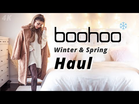BOOHOO Winter Spring try on haul 2020 | Affordable outfits