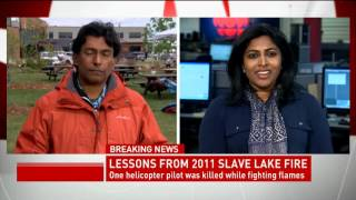 CBC News Network Ian Hanomansing interviews former mayor of Slave Lake