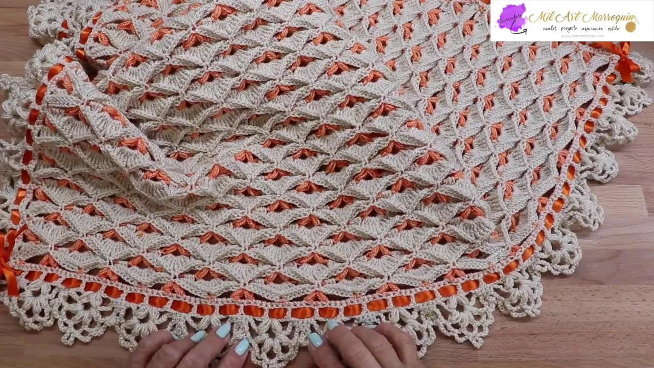 Colcha manta crochet para bebe youtube - Manta de crochet facil ...