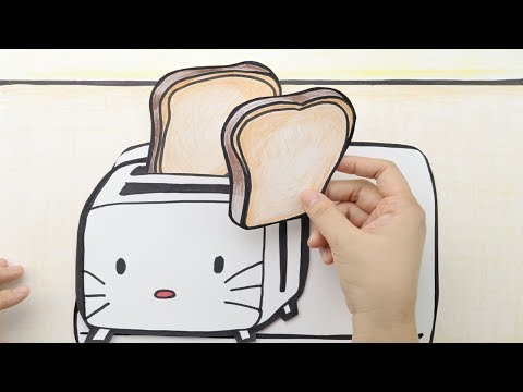 Sandwich craft for Kids|Paper Doll Playing|Stopmotion Cooking Paper Sandwich for kids|Hellokitty