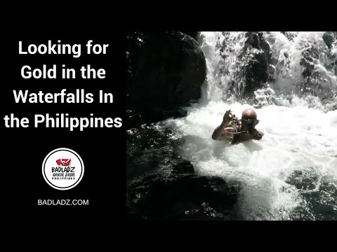Looking for Gold in the Waterfalls In the Philippines