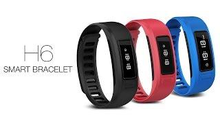 h6 smart bracelet bluetooth pedometer sms call reminder