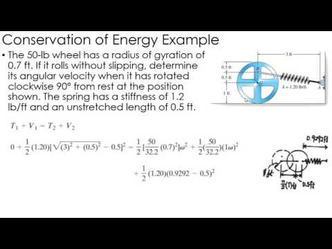Dynamics Example: Conservation of Energy of Rigid Bodies
