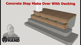 Concrete Step Make Over With Wood Decking