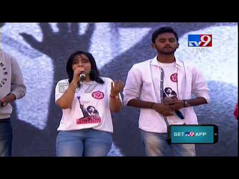 JanaSena Party Theme Song at JanaSena Formation Day MahaSabha || Pawan Kalyan || Guntur - TV9