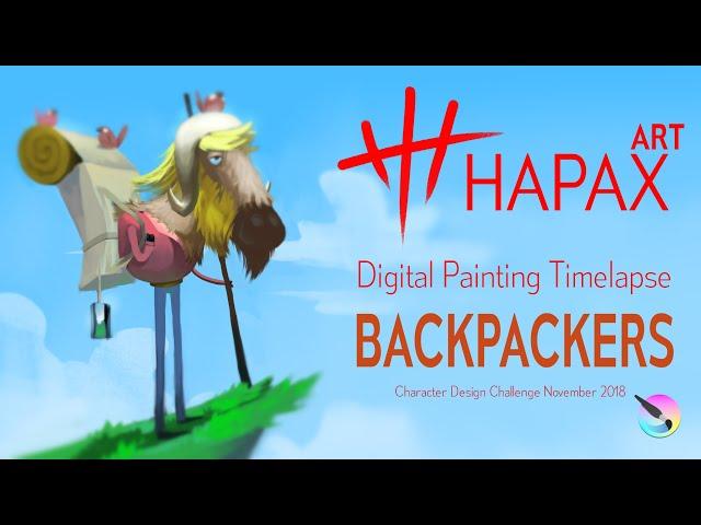 Speed Painting Timelapse | Backpacker (Character Design Challenge Nov 2018 )