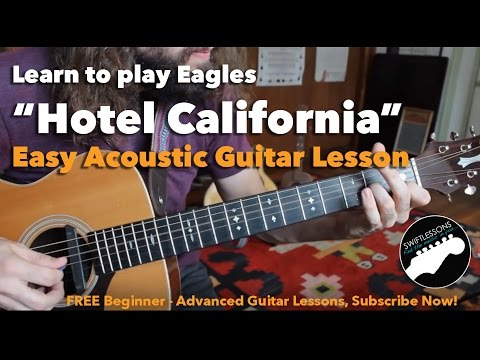 Easy Hotel California Beginner Acoustic Guitar Lesson