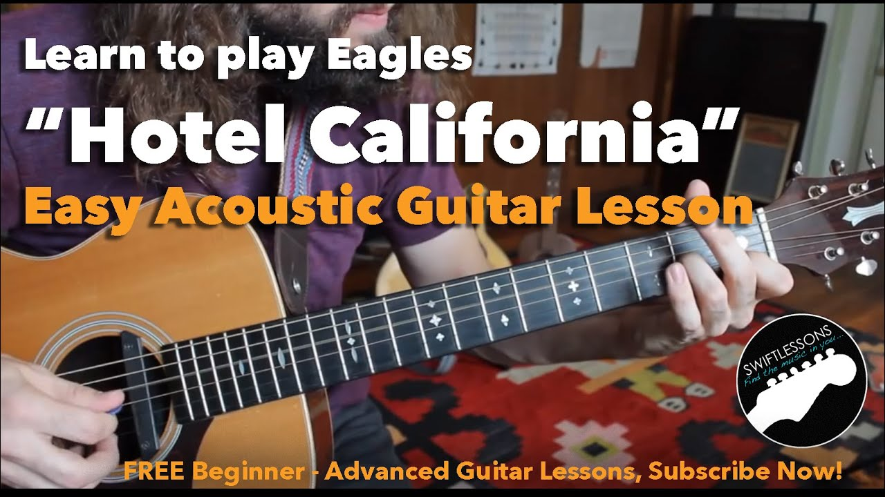 Easy Hotel California Beginner Acoustic Guitar Lesson Chords Chordify