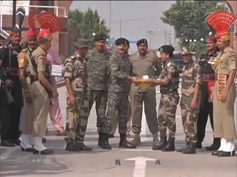 India-Pakistan border forces exchange sweets on Eid al-Adha