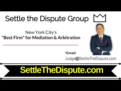 "New York City NY: ""Best Law Firm"" in NYC for Mediation & Arbitration (ADR) - SettleTheDispute.com"