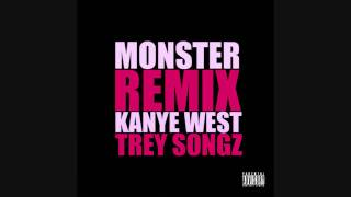 Kanye West - Monster Remix Feat. Trey Songz (Official CDQ)