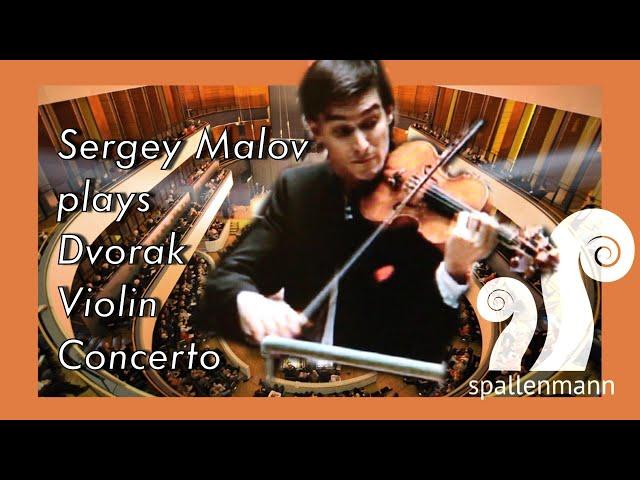 Sergey Malov plays Dvorak Violin Concerto, Sinfonia Lahti, 2011