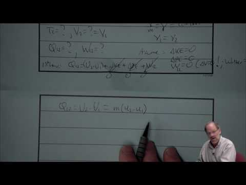 Thermodynamics: 1st Law for Closed Systems (8 of 25)