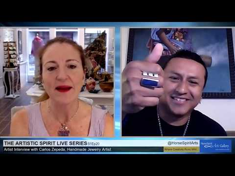 The Artistic Spirit Live Series;S1Ep20 with Carlos Zepeda, Handmade Jewelry Artist