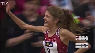 Konstanze Klosterhalfen 8:36.01 NR - 3000m German Indoor Championships 2018 [1080p]