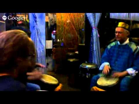 drumming for fun and love and healing at Seasons on Santa Monica