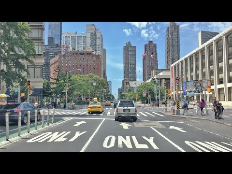 Driving Downtown 4K - NYC's West Side - New York City USA