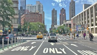 Driving Downtown - NYC Hell's Kitchen 4K - USA