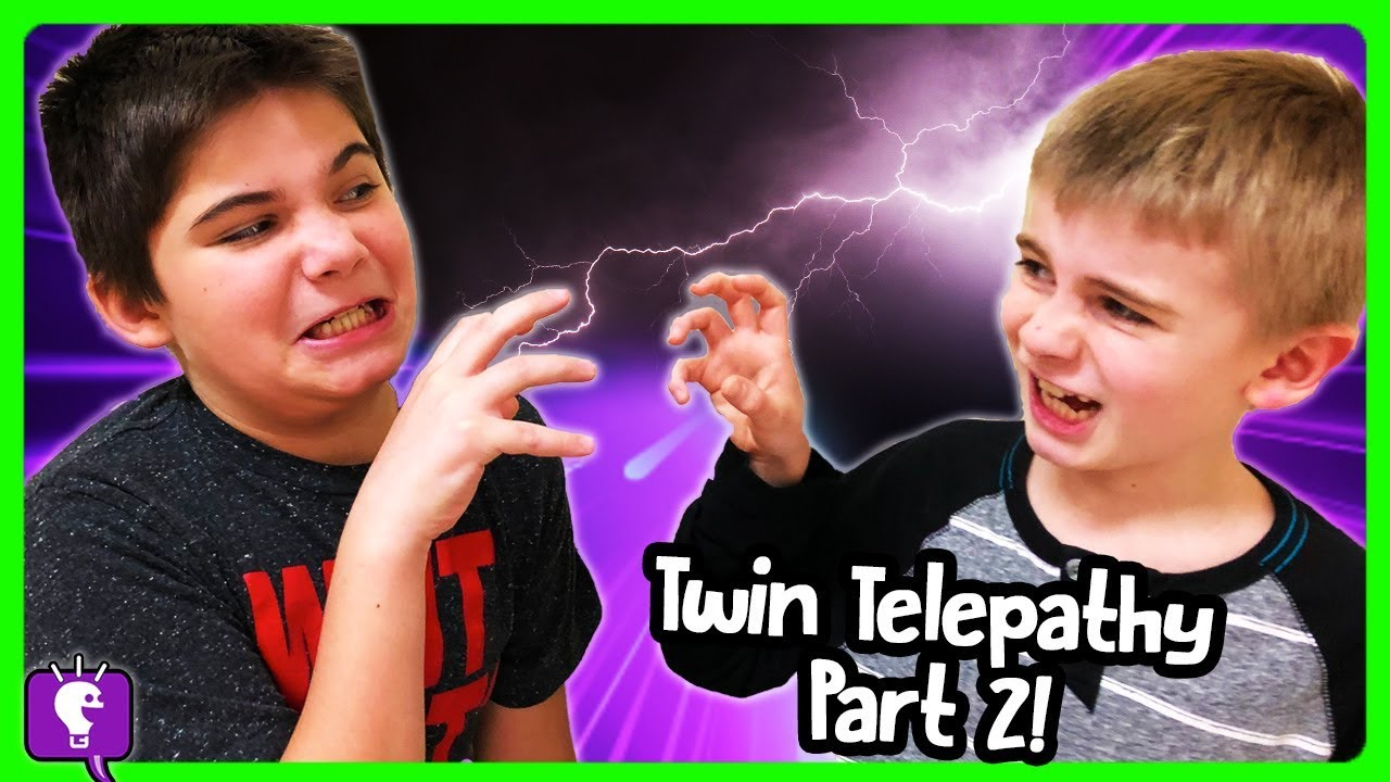 Part 2: TWIN TELEPATHY Challenge! LOSE POINTS? Get Surprise Boxes with HobbyKidsTV