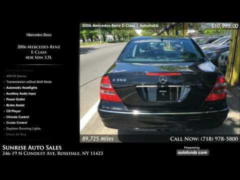 Used 2006 Mercedes-Benz E-Class | Sunrise Auto Sales, Rosedale, NY