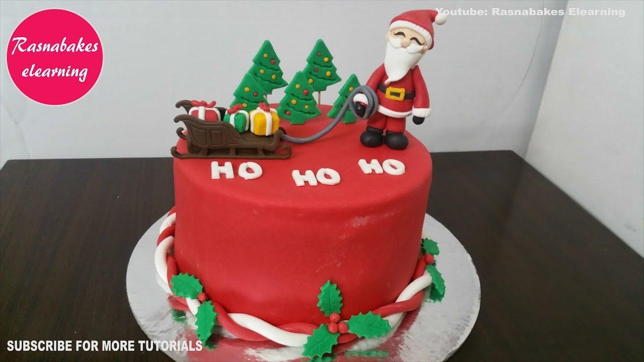 santa claus christmas xmas themed cake decorating tutorial ...