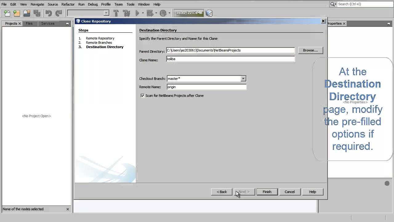 Cloning a Git Repository Using NetBeans IDE