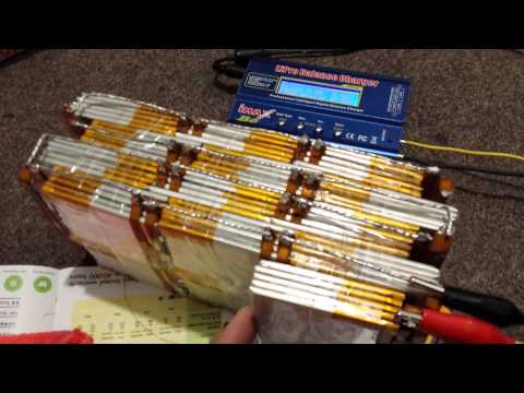Homemade 48V 13S 130 Cell Lipo Battery Pack E-Bike From Laptop Batteries
