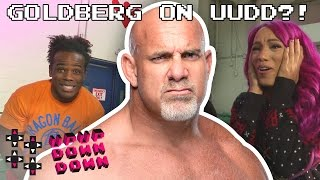 GOLDBERG drops in during a CrunchyRoll unboxing w/ Sasha, Neville & Creed! — UpUpDownDown Unboxing thumbnail
