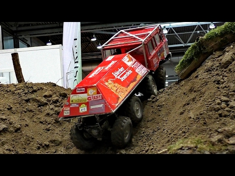 RC TATRA OFFROAD TRUCK INDOOR ACTION / Modell-Hobby-Spiel Fair Leipzig Germany 2016